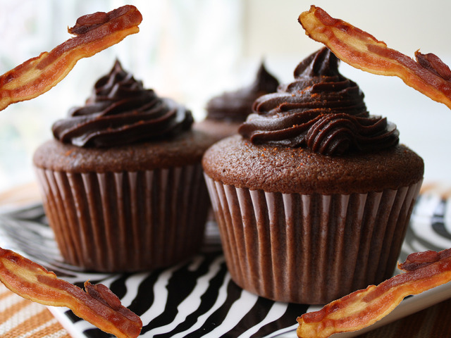 Bacon and cupcakes