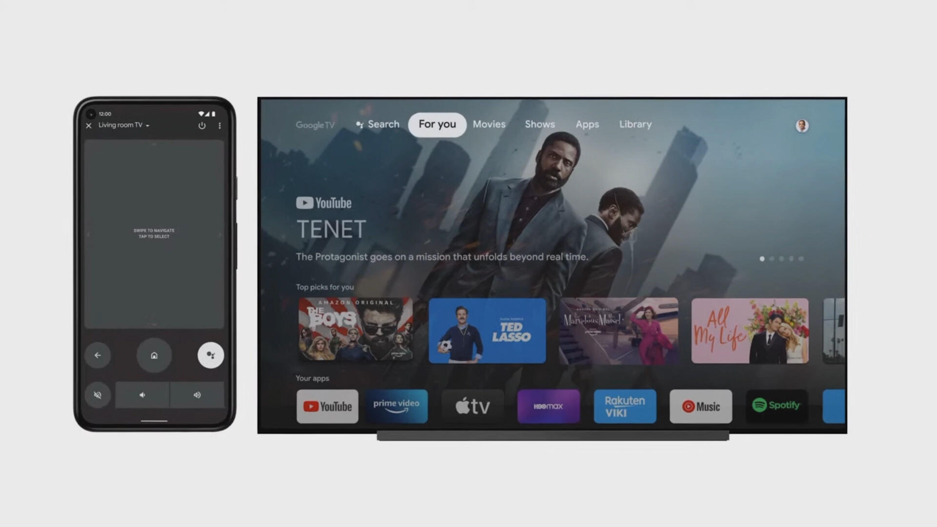 Video: Google turns Android 12 into a TV remote
