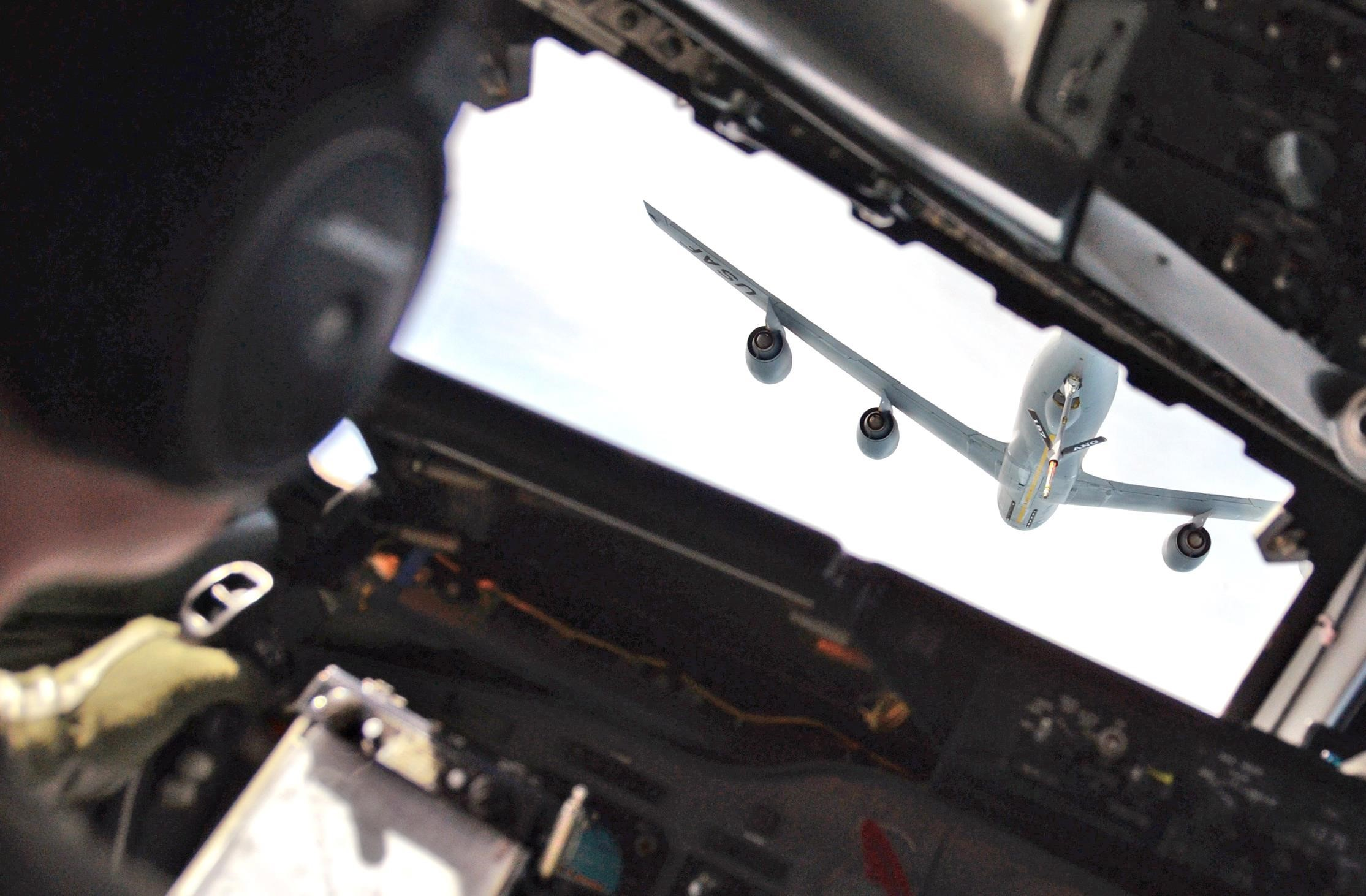 View from an E-3 Sentry