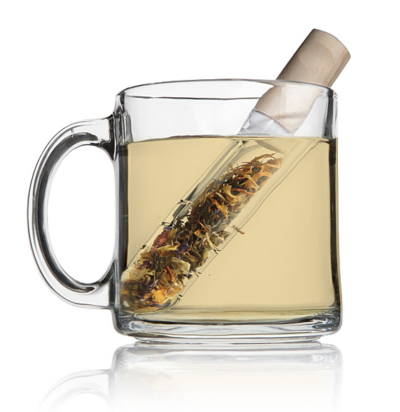 The Teatube Test Tube Tea Infuser: Not to be confused with the real thing.