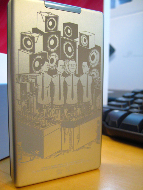 Photo of custom etched Microsoft Zune 80 MP3 player.
