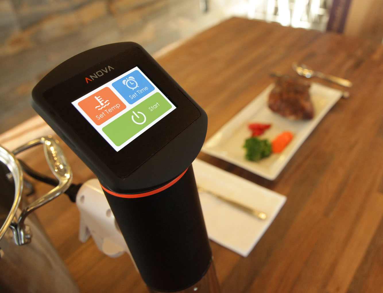 The consistent temperature that the Anova Sous Vide Immersion Circulator provides allows for home cooks of any level to enjoy quality sous vide cooking.