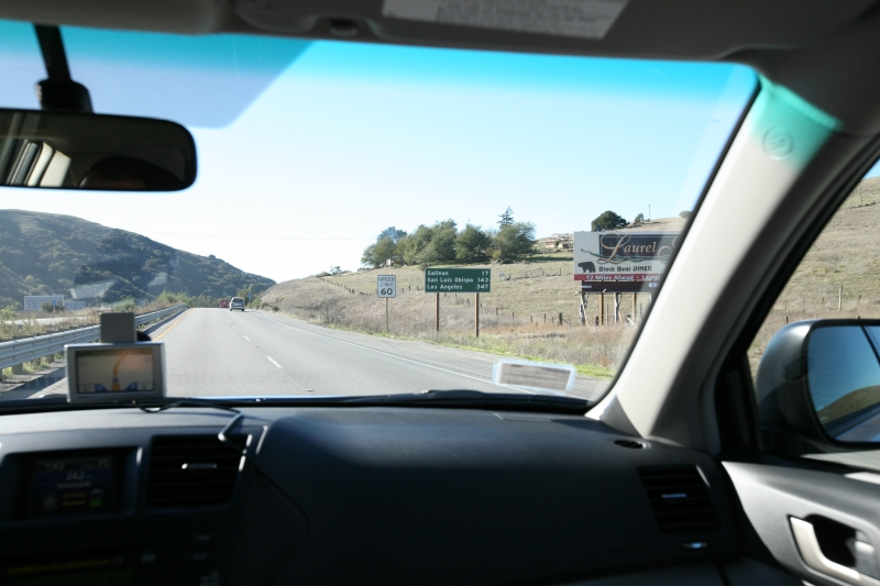 On the road to Los Angeles