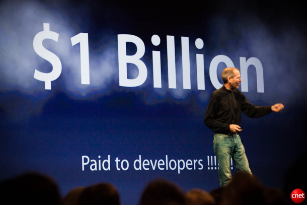 Steve Jobs made his case to developers at WWDC on Monday.