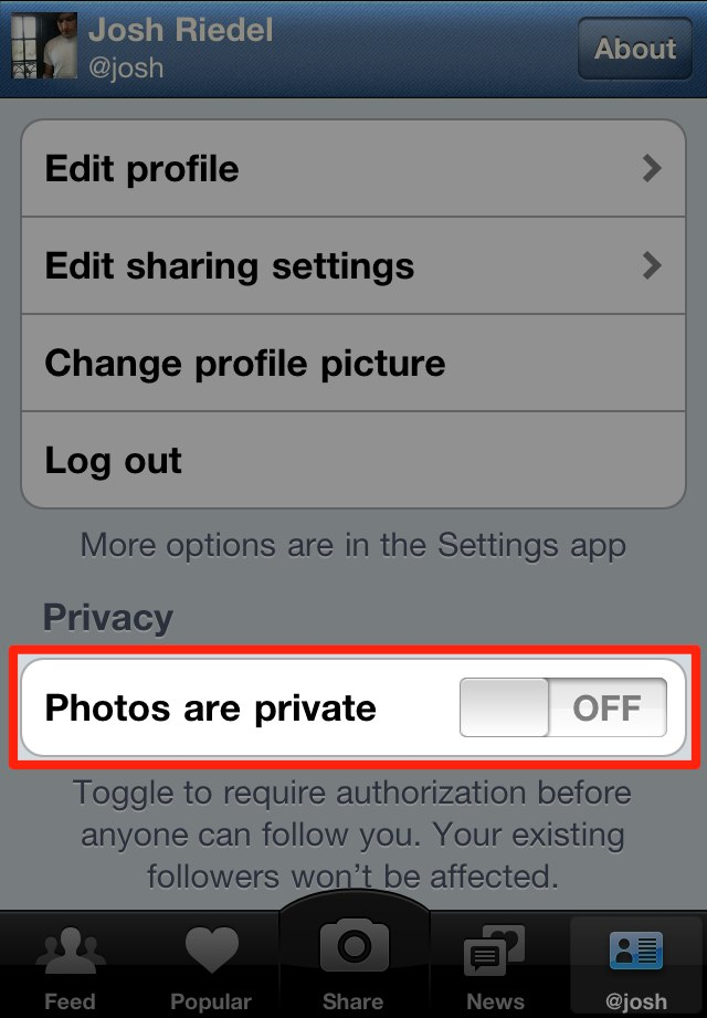 Instagram photos are public by default. You can change that, but few people do.