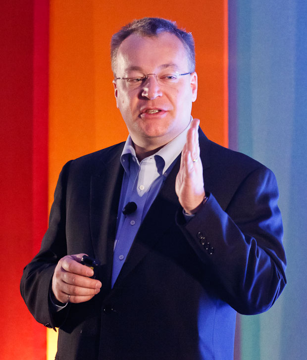 Nokia CEO Stephen Elop speaks at the Open Mobile Summit.
