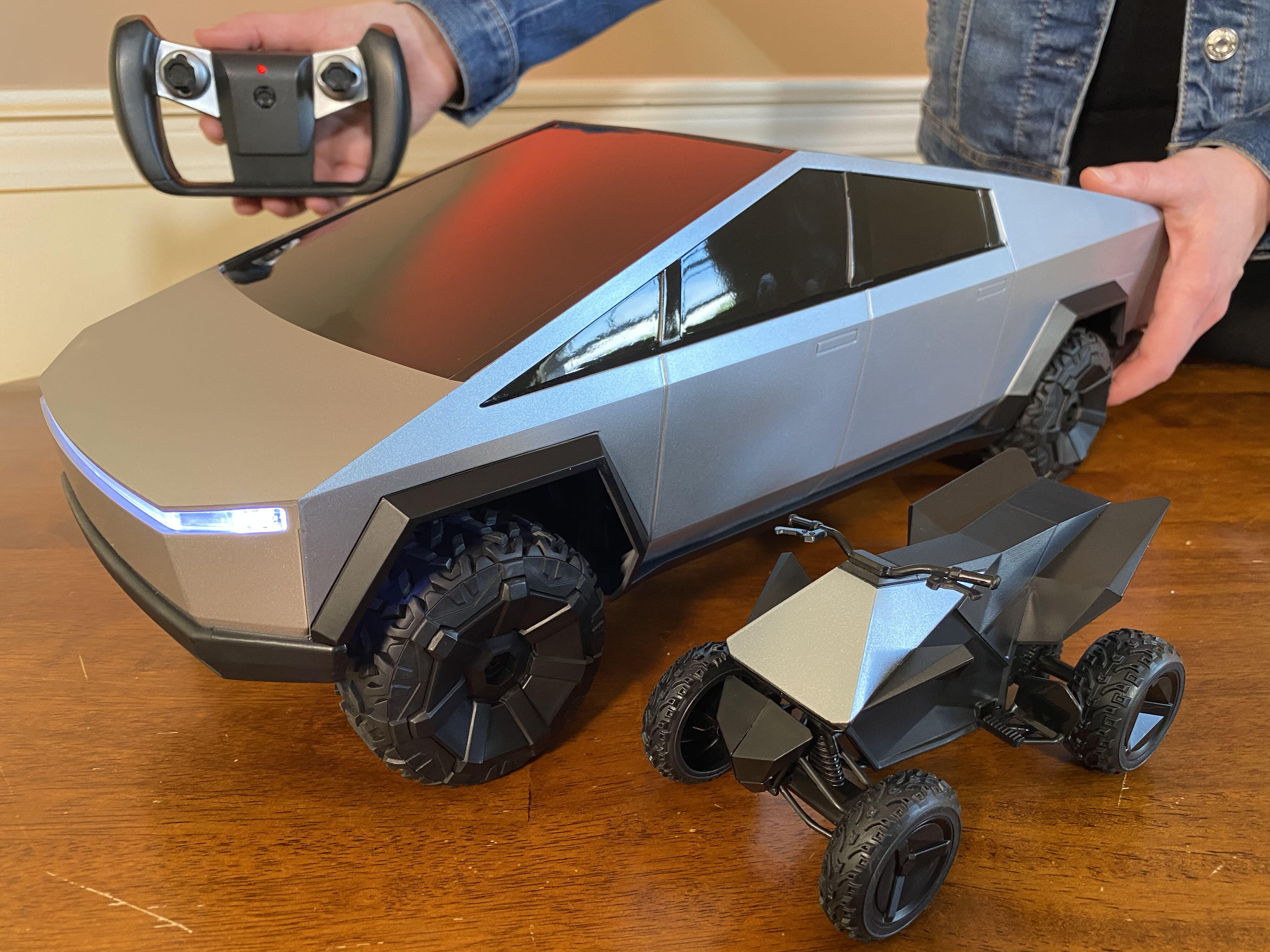 <p>Mattel's new R/C Cybertruck toy goes on sale this week for $100. And it includes the Cyberquad ATV.</p>