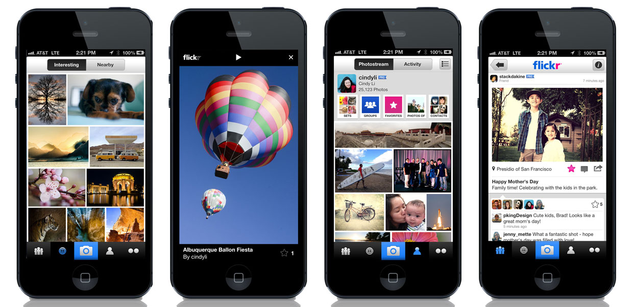 The new iPhone app from Flickr attempts to make the photo-sharing site fully usable with a smartphone.