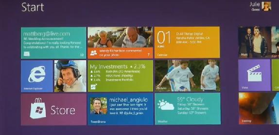 Windows 8's Start menu.