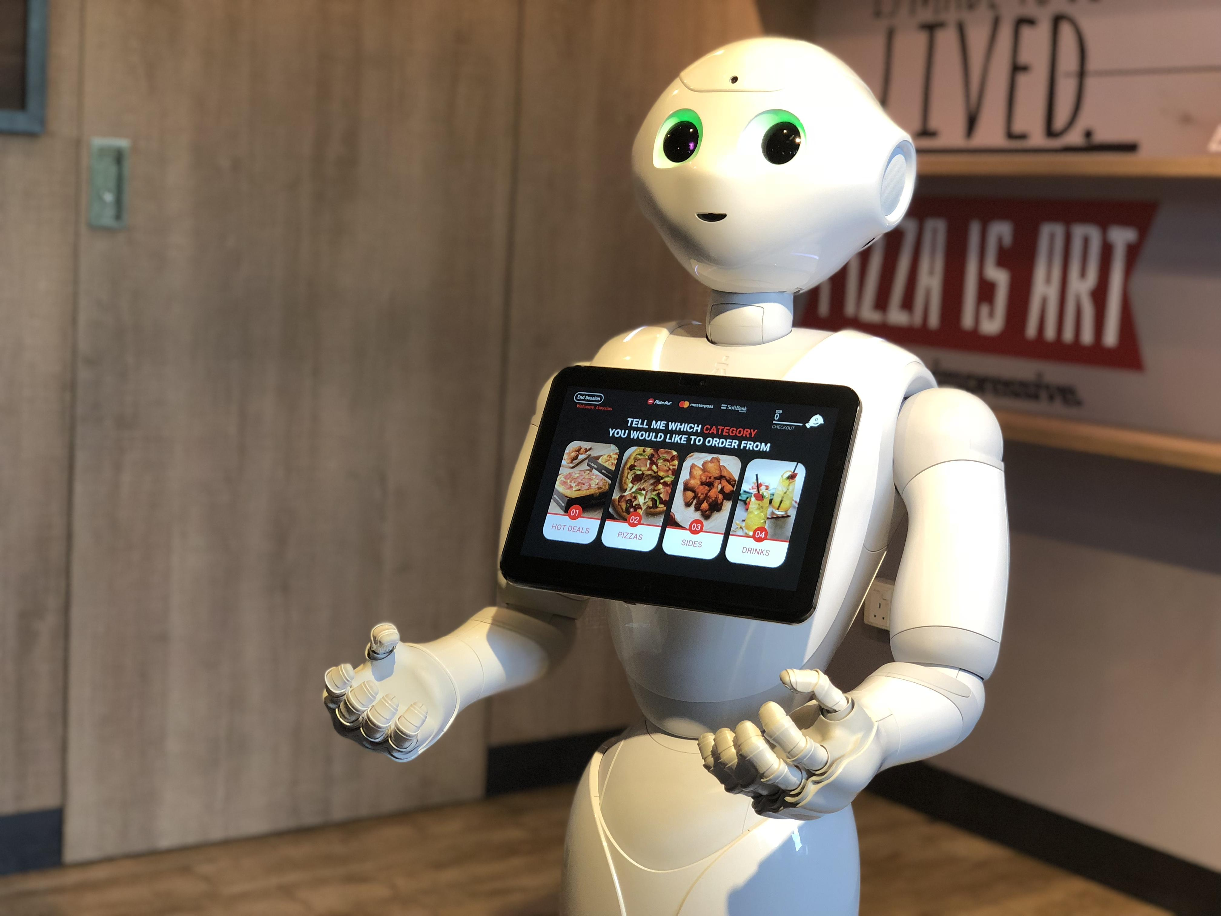 <p>Pepper the robot now takes your order for pizzas, and doesn't discriminate if you like pineapples on them.</p>