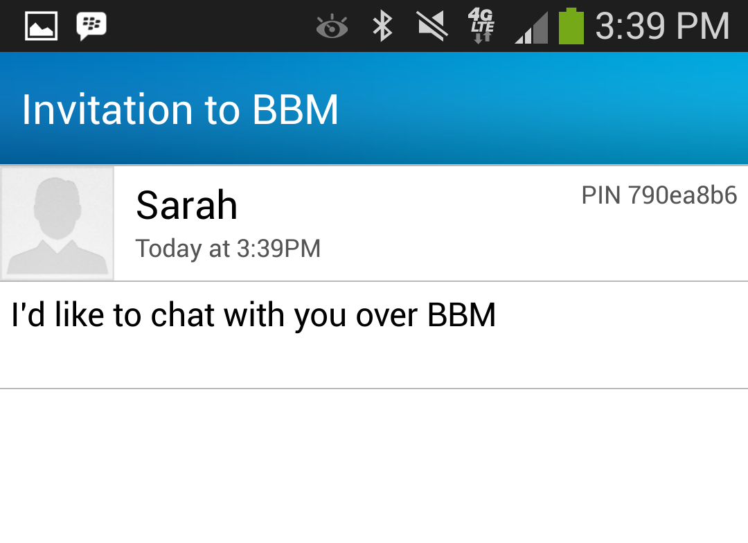 Invite to chat