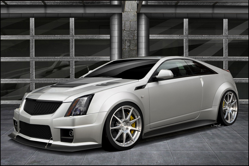 The limited edition 2012 V1000 Twin Turbo Cadillac CTS-V Coupe by Hennessey Performance.