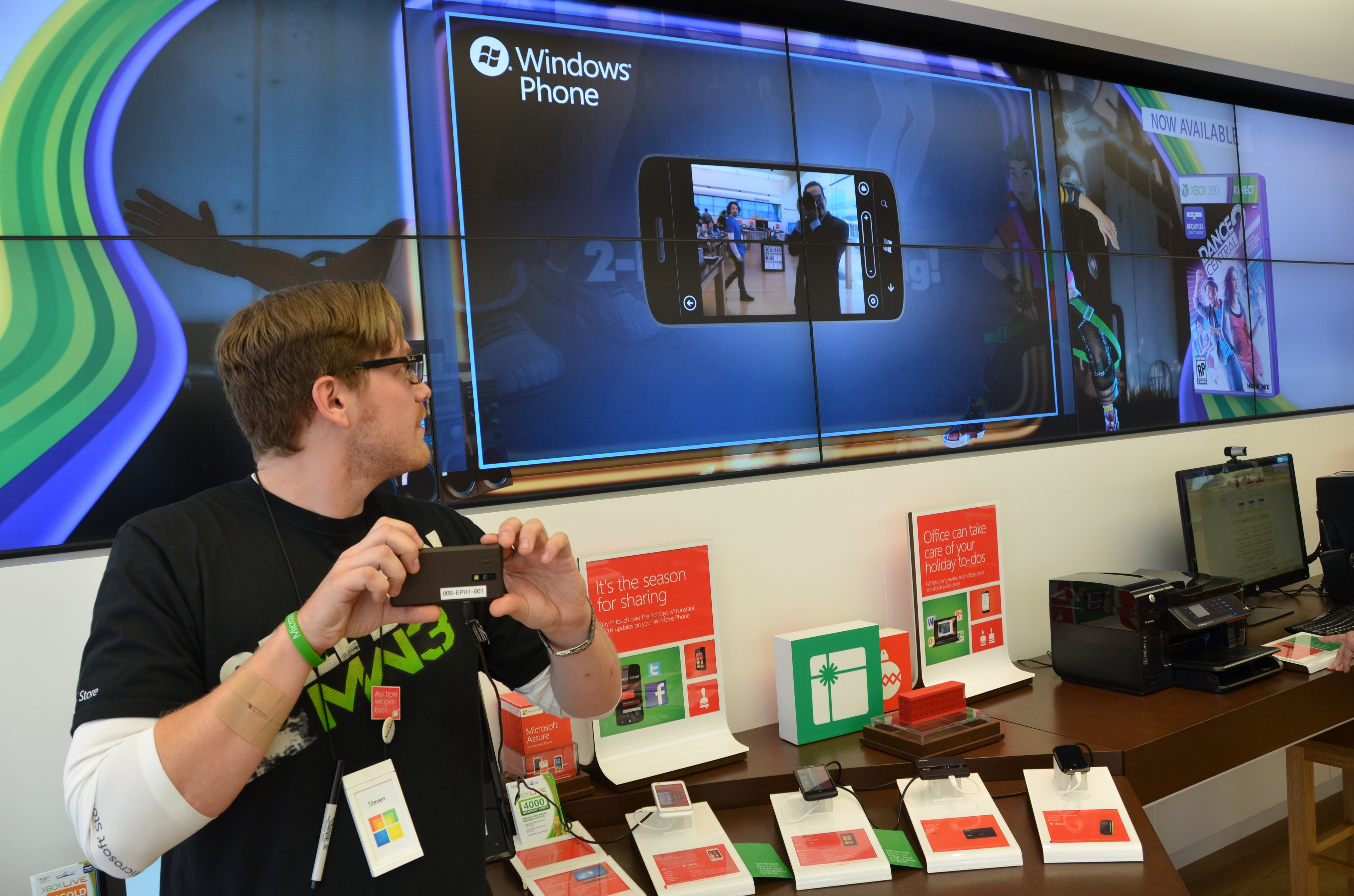 Microsoft is proud of the video screens