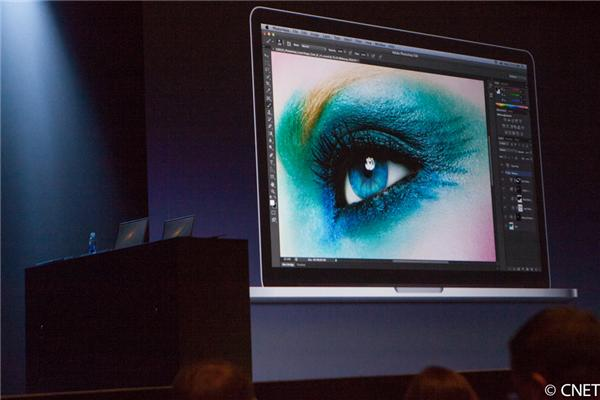 When it announced high-resolution Retina displays were coming to its MacBook line, Apple used Photoshop to show off the screen's advantages.
