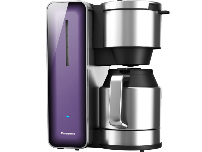 The Panasonic NC-ZF1V Coffee Maker with High Quality Stainless Steel & Glass Finish is designed for the senses.