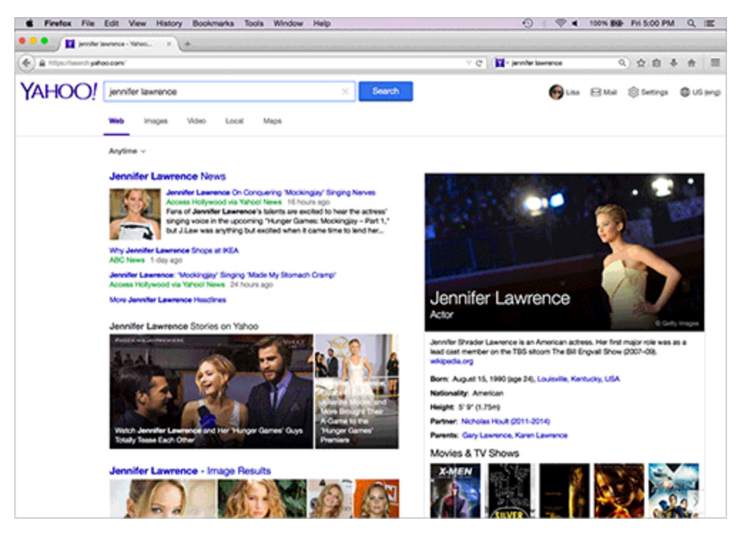Yahoo showed a preview of a revamped search interface that Firefox users in the US will start seeing in December.
