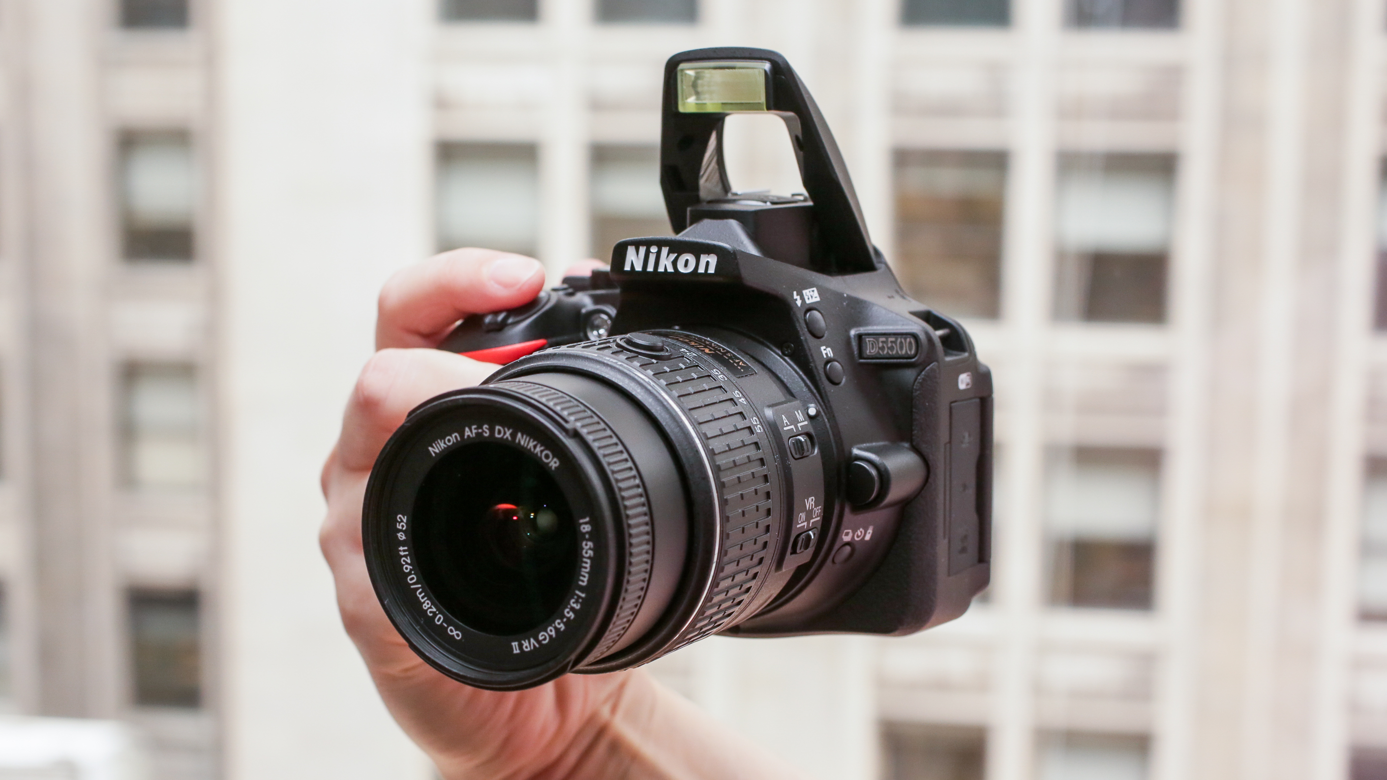 It's great, but grip the D5500 before you get it