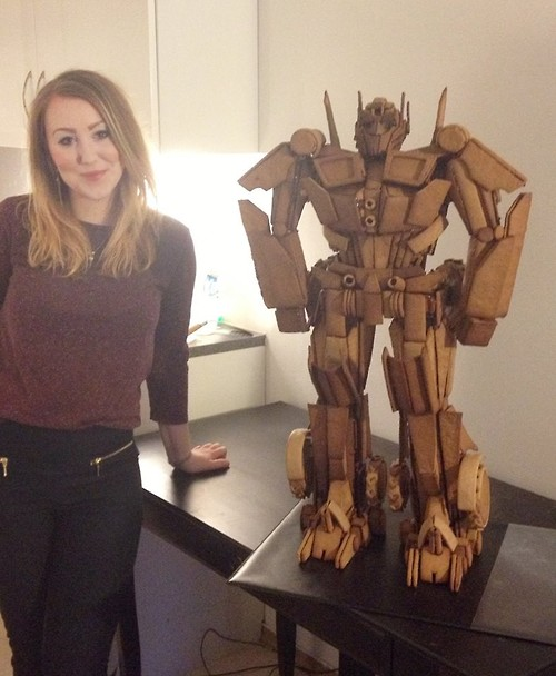 This gingerbread Optimus Prime dessert is the best kind of robot in disguise.