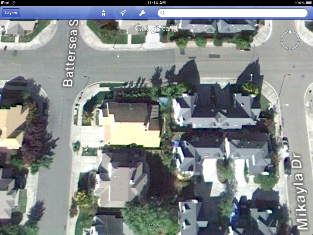 Google Earth view of a single residence