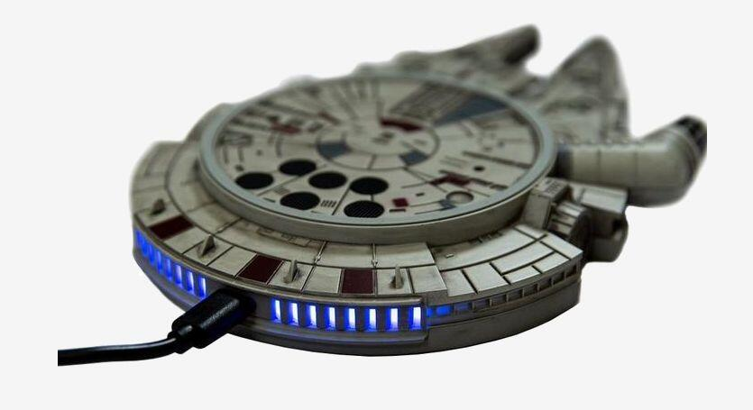 millennium falcon wireless charge pad