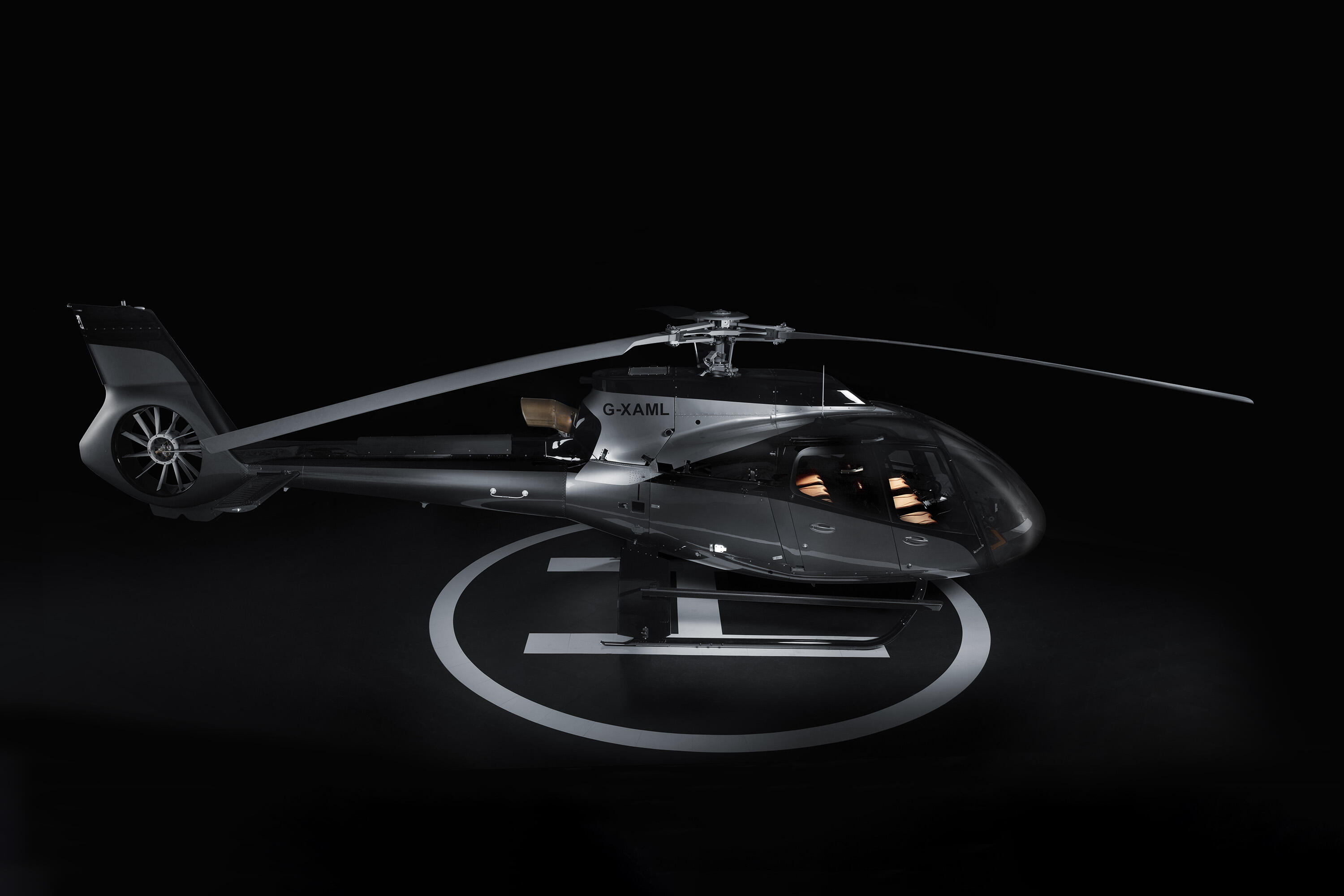 Aston Martin Airbus helicopter