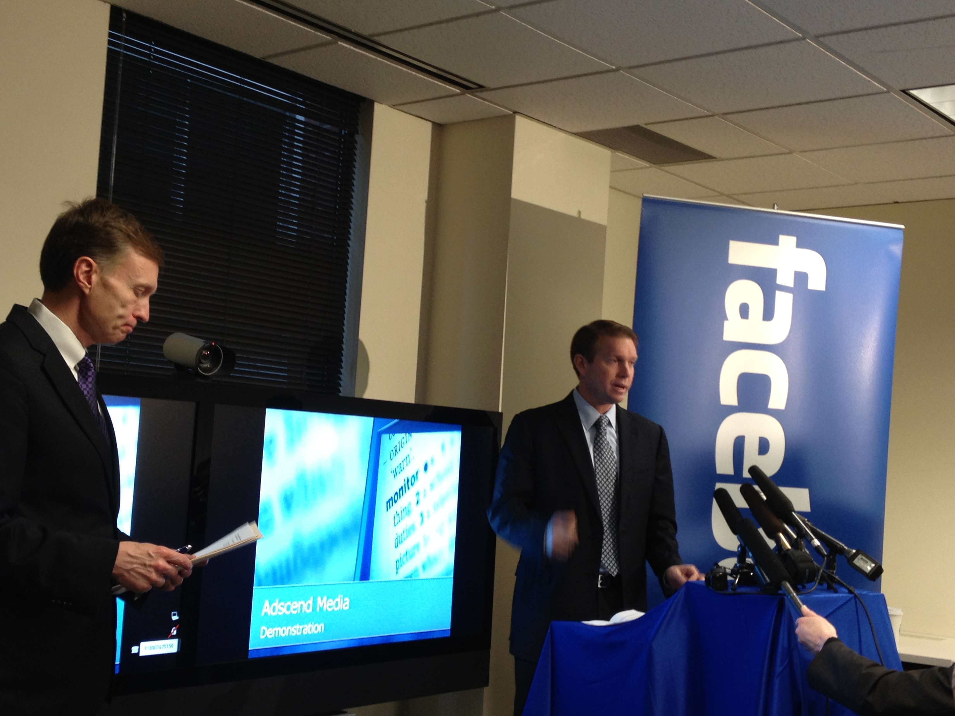 Washington State Attorney General Rob McKenna and Facebook General Counsel Ted Ullyot, in this file photo.