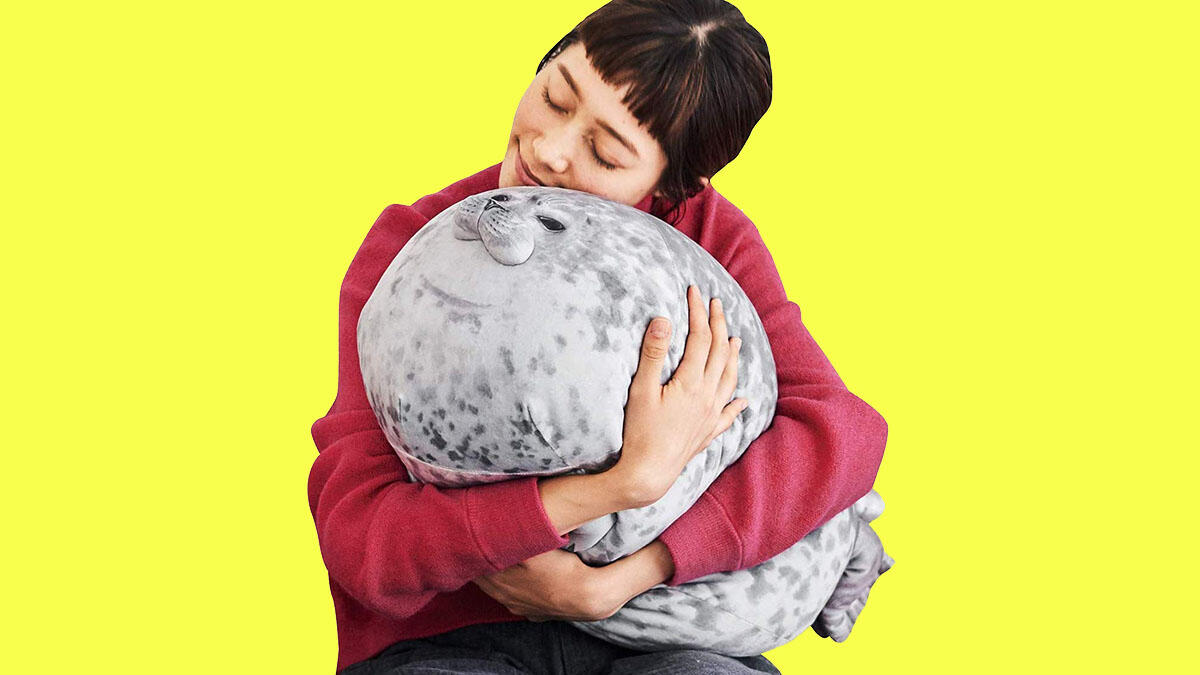 An incredibly comfy new pillow (that happens to look like a seal) ($17.99)