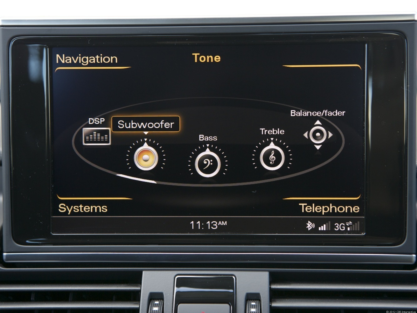 Audio options in the Audi A7