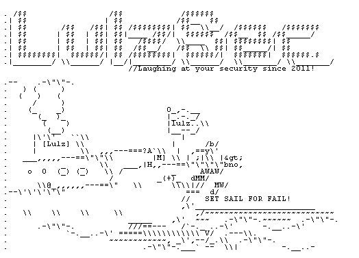 The LulzSec group uses a boat as a symbol of its hacking antics.