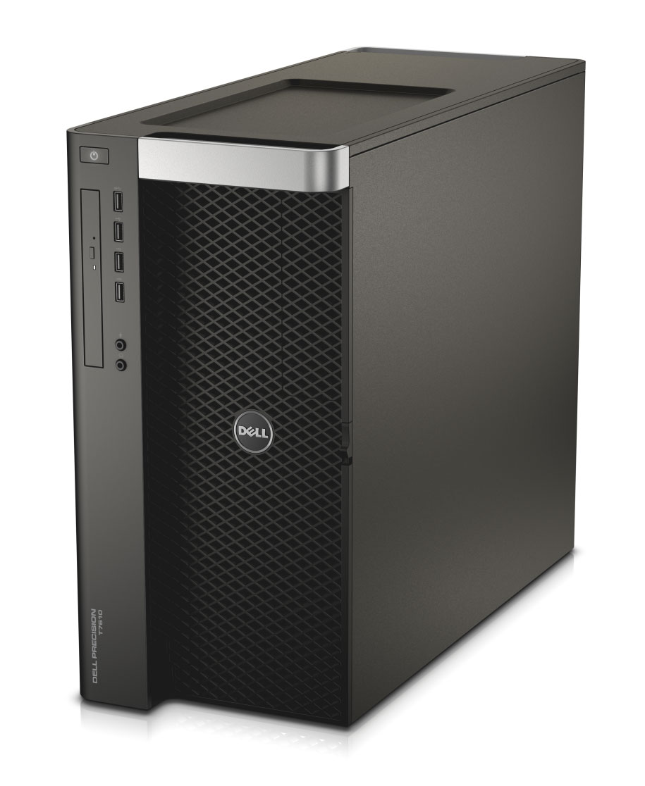 Dell's top-end T7610 workstation is a hulking tower model that accommodates dual Xeon processors.