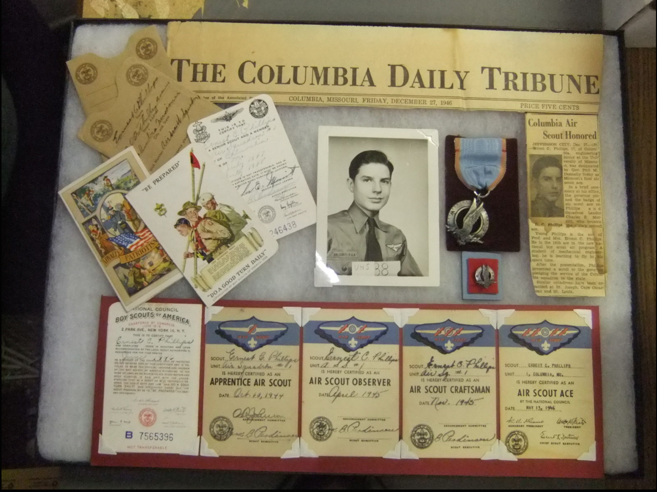 Boy Scout's Air Scout Ace award: $27,211
