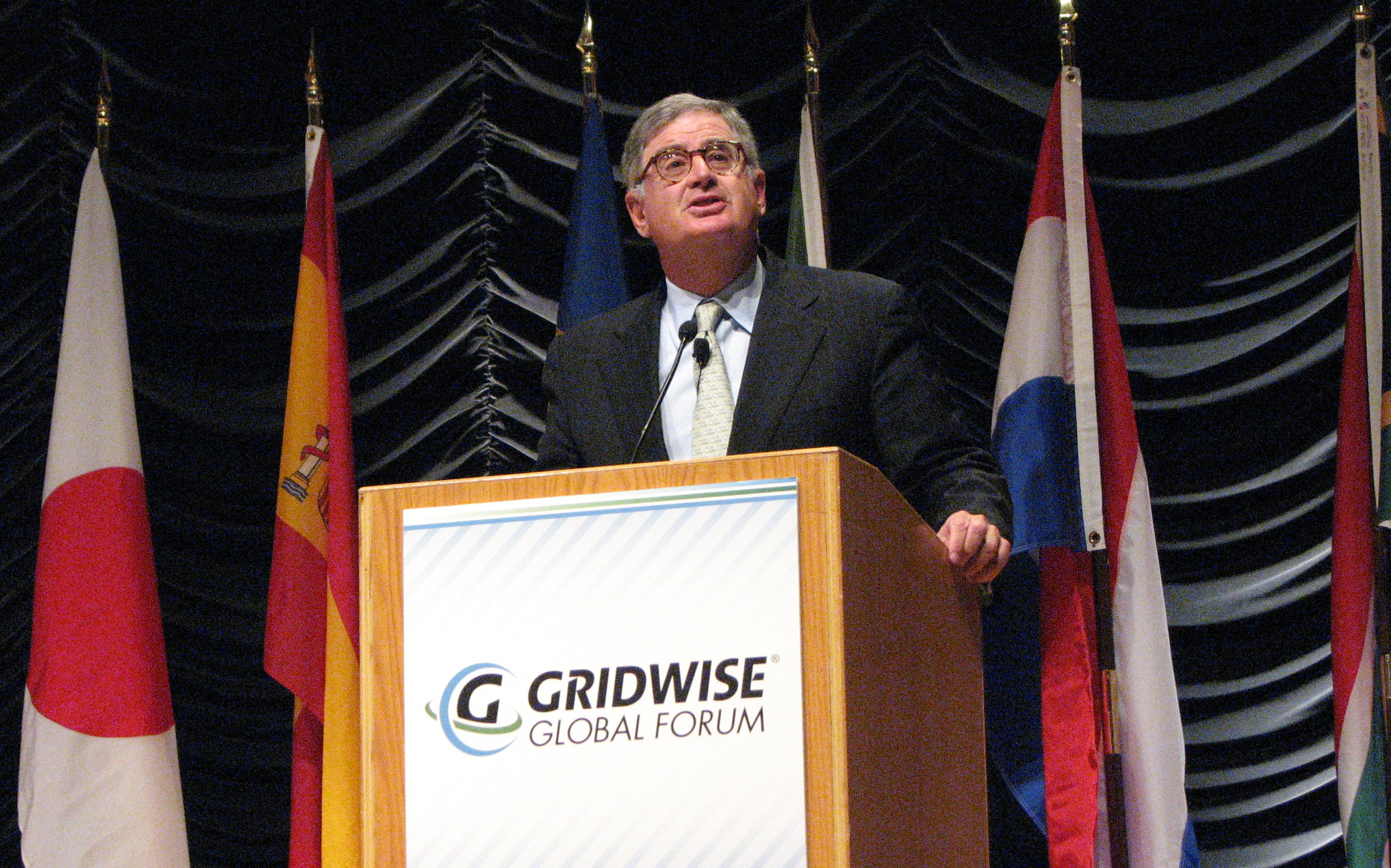 IBM CEO Sam Palmisano delivers the keynote talk at the GridWise Global Forum in Washington, D.C.
