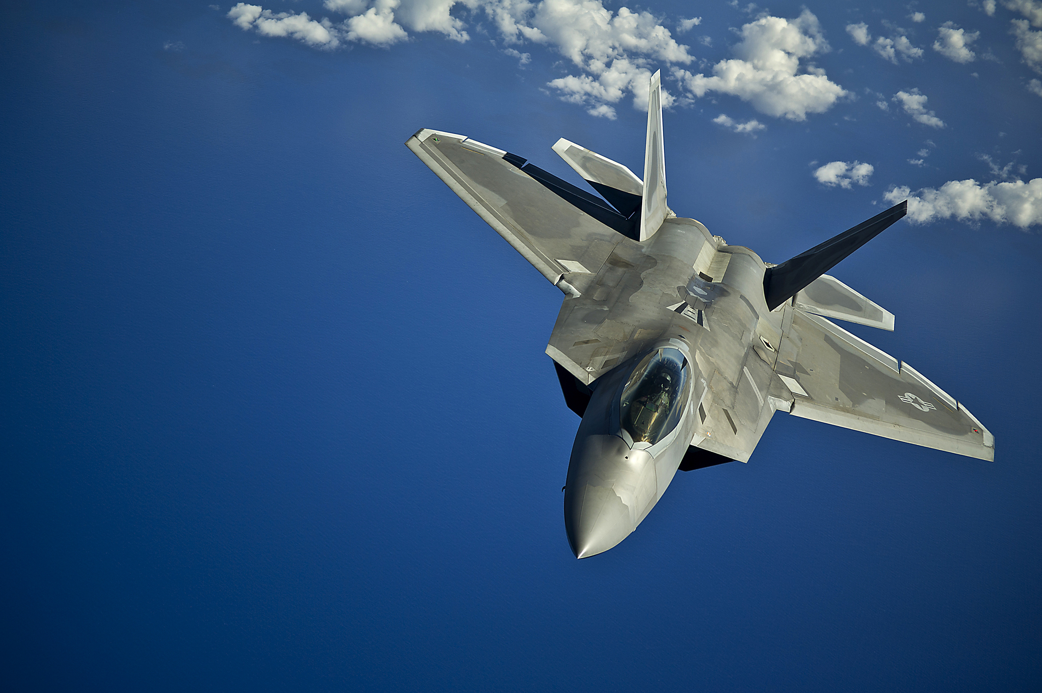 F-22 Raptor over the Pacific