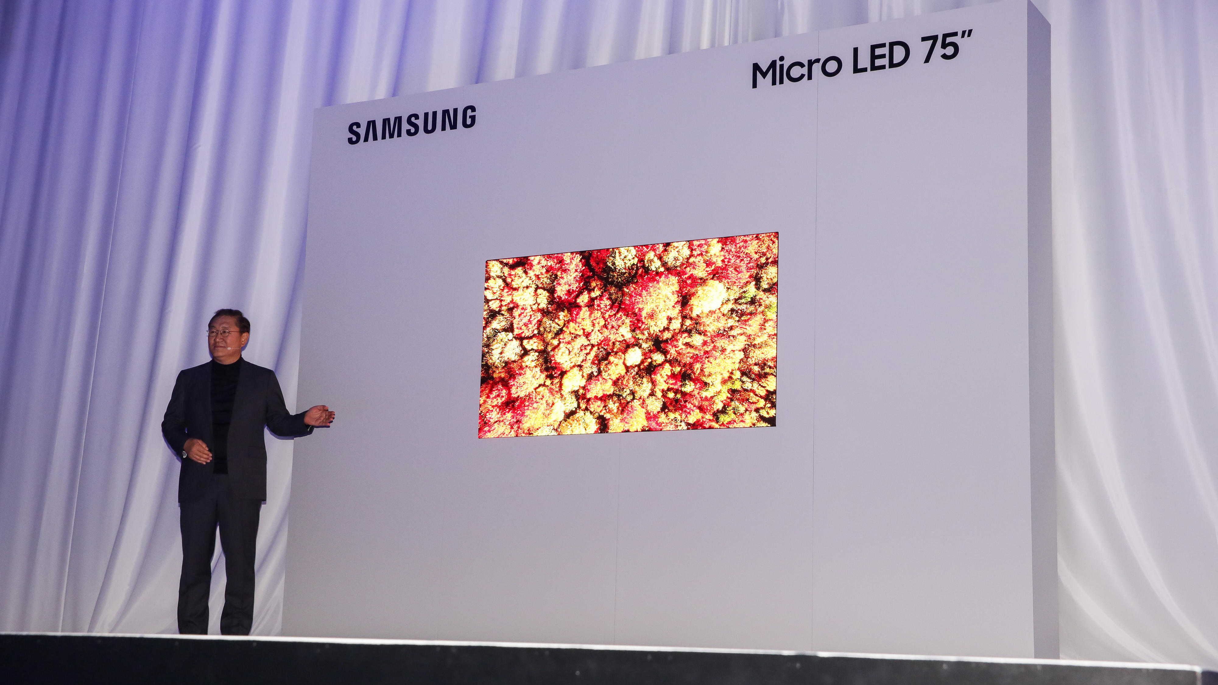 Samsung's 75-inch MicroLED