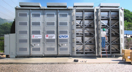 A sodium-sulfur battery from NGK Insulators installed on the grid in Charleston, W.Va., by utility American Electric Power.