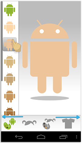 Android in his birthday suit