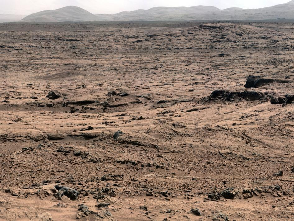 View of Mars' surface