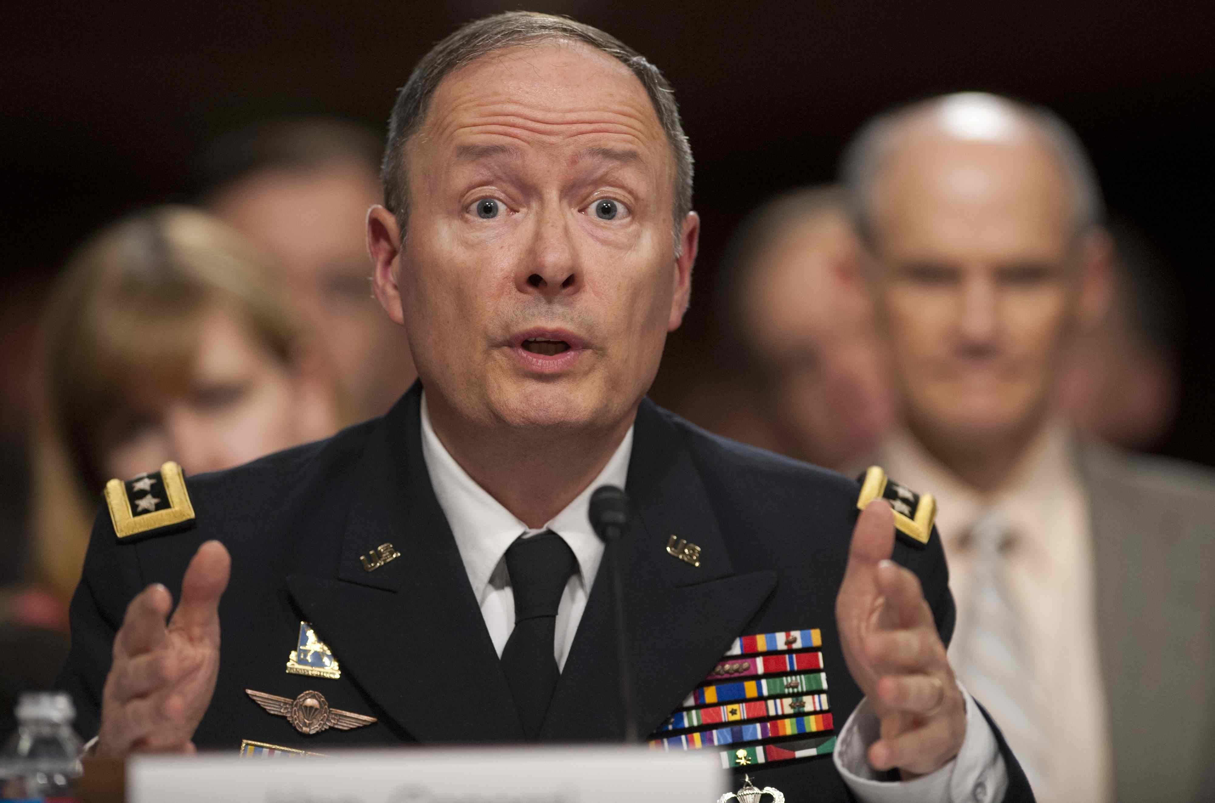 """""""I could not be more proud of the men and women at NSA,"""" Keith Alexander, the head of the National Security Agency and U.S. Cyber Command, told Congress on Wednesday."""