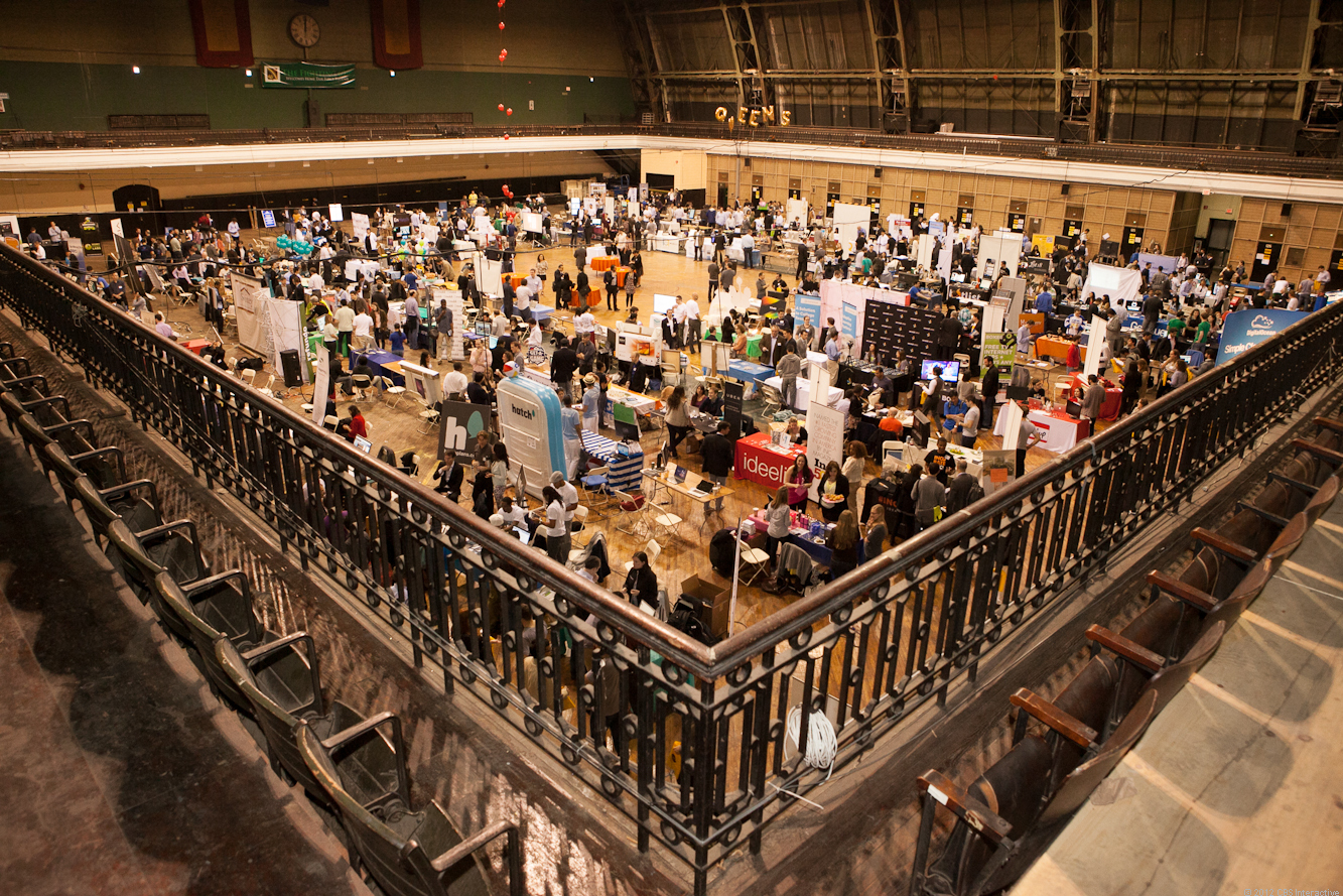 The first inaugural New York Tech Day, hosted by the 69th Regiment Armory.