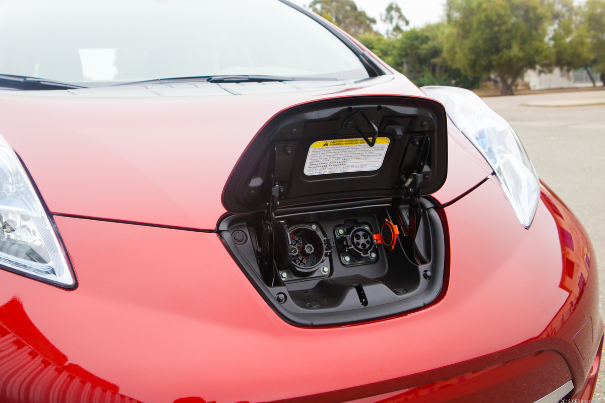 Nissan Leaf charge points