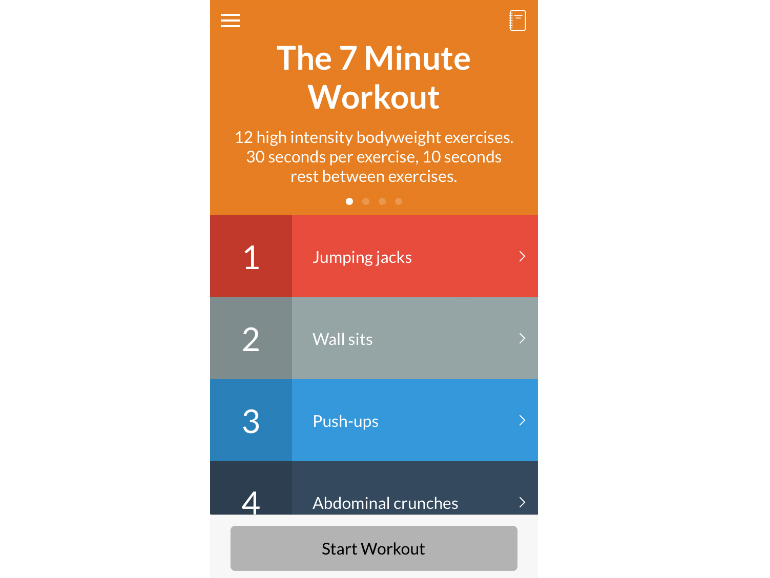 A quick, intense daily workout