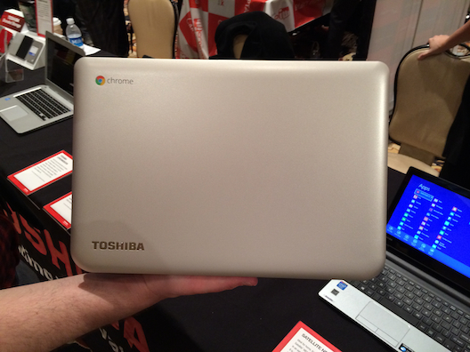 Toshiba was showing off its new 13-inch Chromebook at CES. It's priced at $280.