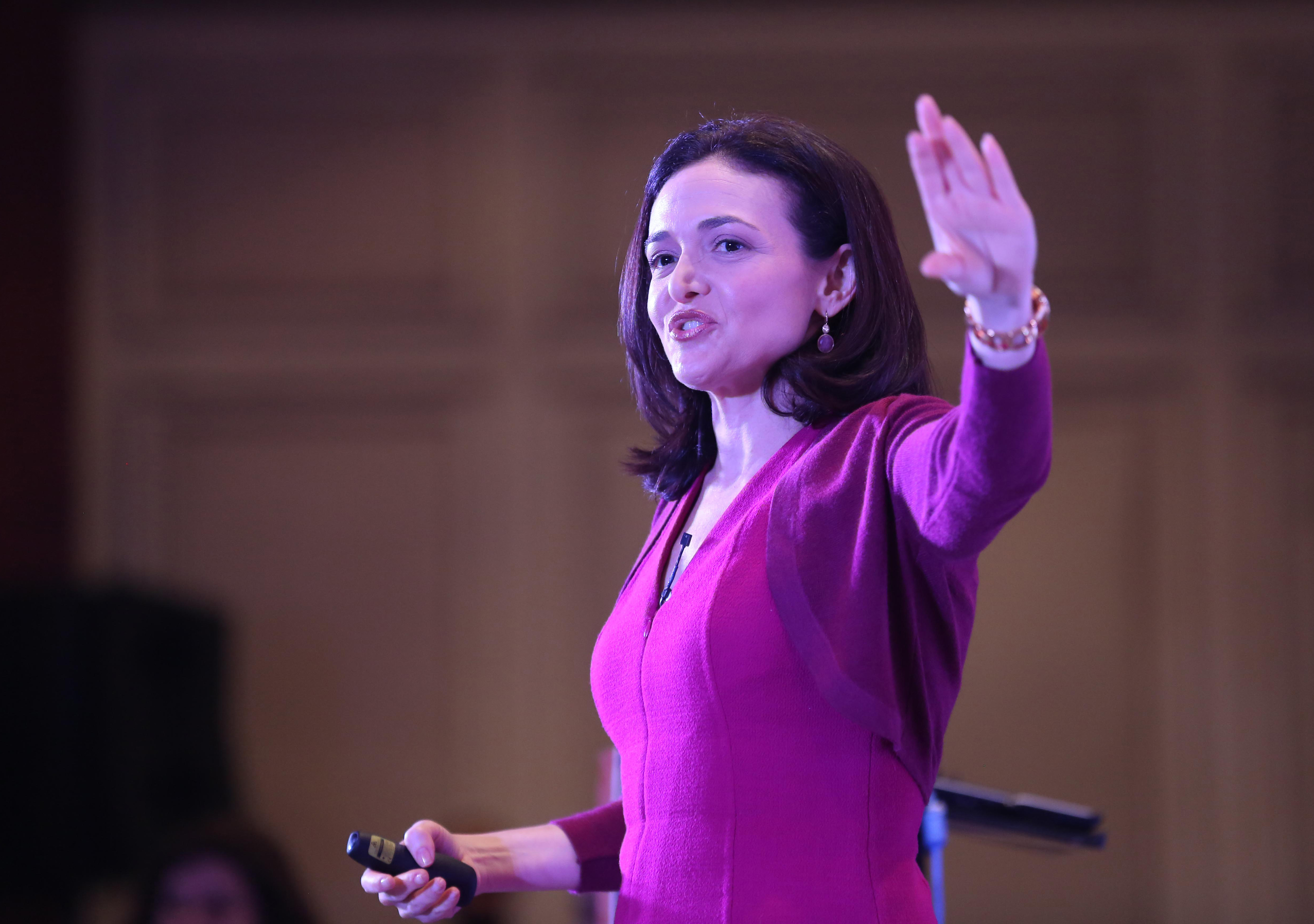 """Facebook executive and """"Lean In"""" author Sheryl Sandberg says many women saw themselves in Ellen Pao."""