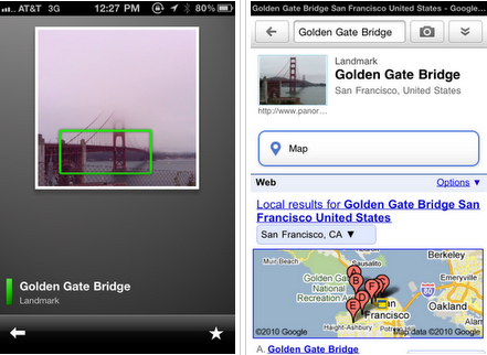 Google Goggles on iPhone