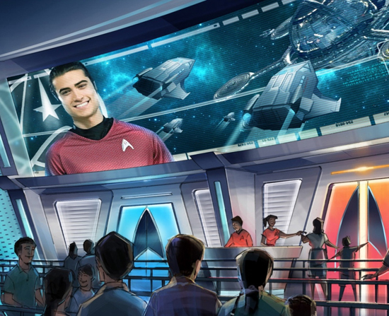 """The 3D simulator ride at the proposed """"Star Trek"""" theme park in Spain promises recruits will experience adventures in outer space, hopefully with fewer breaches to the warp drive than experienced on """"Star Trek: The Next Generation."""""""