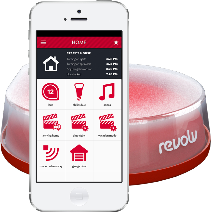The Revolv Smart Home Solution Wi-Fi Hub funnels smart connected appliances and gadgets into one central device and app.