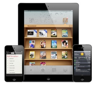 Apple's iPod Touch, iPad and iPhone.