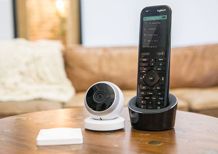 Harmony Elite, POP Smart Button and Circle Camera from Logitech.