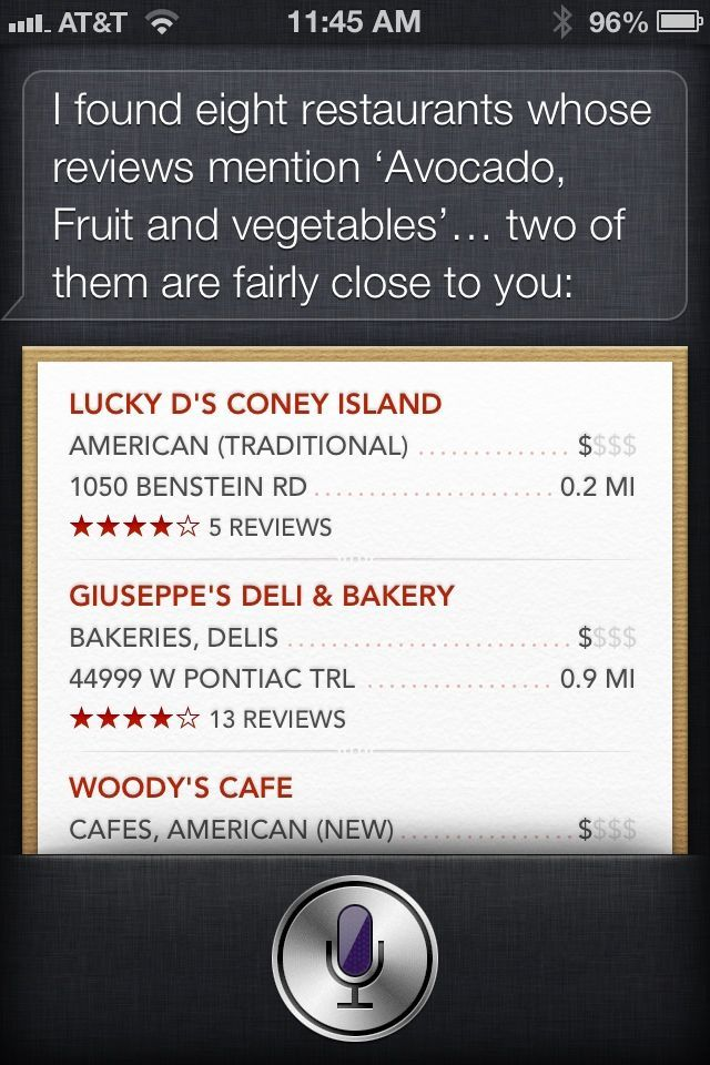 This is what happens when you ask Siri to identify an avocado. She's just not built for certain kinds of questions.