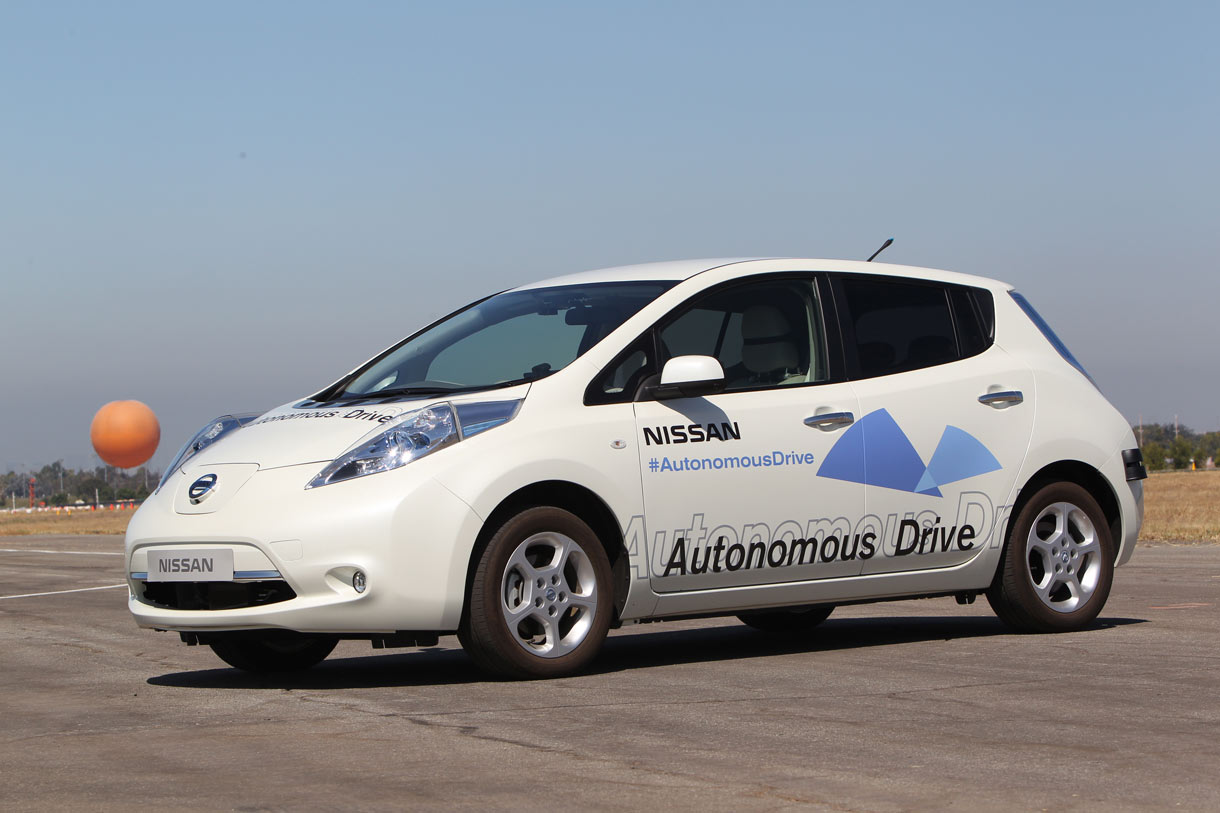 A self-driving Nissan Leaf prototype